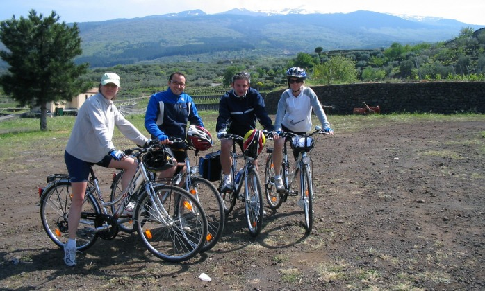Bicycle tour around Etna